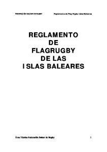 REGLAMENTO DE FLAGRUGBY DE LAS ISLAS BALEARES