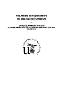 REGLAMENTO DE FUNCIONAMIENTO DEL CONSEJO DE DEPARTAMENTO