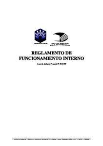 REGLAMENTO DE FUNCIONAMIENTO INTERNO