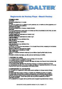Reglamento de Hockey Playa Beach Hockey