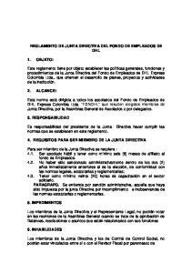 REGLAMENTO DE JUNTA DIRECTIVA DEL FONDO DE EMPLEADOS DE DHL 4. REQUISITOS PARA SER MIEMBRO DE LA JUNTA DIRECTIVA