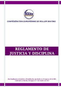 REGLAMENTO DE JUSTICIA Y DISCIPLINA