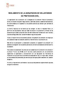 REGLAMENTO DE LA AGRUPACION DE VOLUNTARIOS DE PROTECCION CIVIL