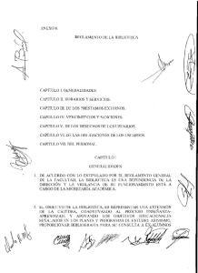 REGLAMENTO DE LA BIBLIOTECA CAPITULO V. DE LOS DERECHOS DE LOS USUARIOS. CAPITULO VI. DE LAS OBLIGACIONES DE LOS USUARIOS. CAPITULO 1 GENERALIDADES