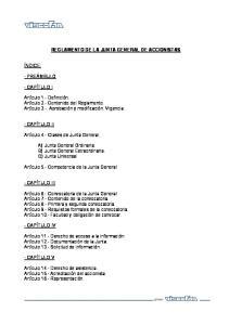 REGLAMENTO DE LA JUNTA GENERAL DE ACCIONISTAS