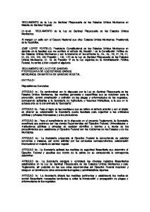 REGLAMENTO de la Ley de Sanidad Fitopecuaria de los Estados Unidos Mexicanos en Materia de Sanidad Vegetal