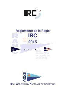 Reglamento de la Regla IRC