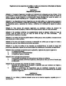 Reglamento de los expendios de tortillas y molinos de nixtamal en el Municipio de Ojuelos de Jalisco, Jalisco. CAPITULO I Disposiciones generales