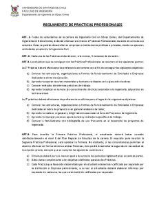 REGLAMENTO DE PRACTICAS PROFESIONALES
