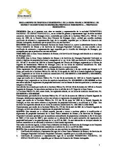 REGLAMENTO DE PROPIEDAD HORIZONTAL DE LA ZONA FRANCA INDUSTRIAL DE BIENES Y DE SERVICIOS DE RIONEGRO-PROPIEDAD HORIZONTAL PROPIEDAD HORIZONTAL