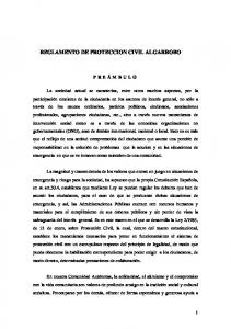 REGLAMENTO DE PROTECCION CIVIL ALGARROBO