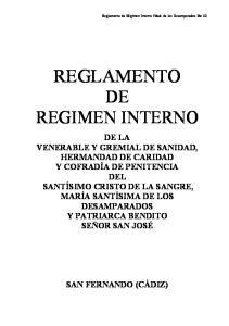 REGLAMENTO DE REGIMEN INTERNO