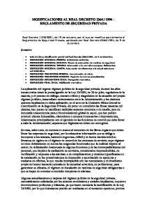 REGLAMENTO DE SEGURIDAD PRIVADA