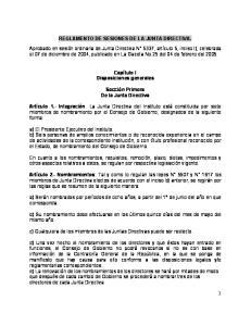 REGLAMENTO DE SESIONES DE LA JUNTA DIRECTIVA