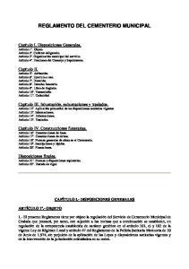 REGLAMENTO DEL CEMENTERIO MUNICIPAL