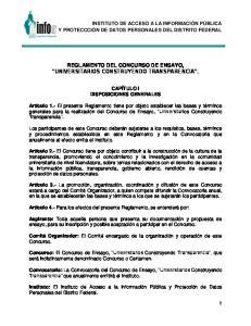 REGLAMENTO DEL CONCURSO DE ENSAYO, UNIVERSITARIOS CONSTRUYENDO TRANSPARENCIA