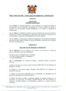 REGLAMENTO DEL CONCURSO DE MERITOS