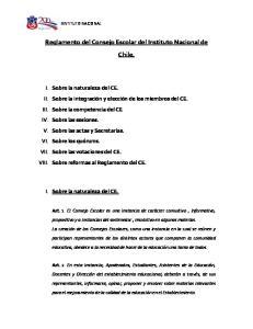 Reglamento del Consejo Escolar del Instituto Nacional de Chile