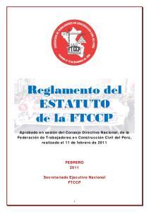 Reglamento del ESTATUTO de la FTCCP