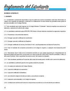 Reglamento del Estudiante