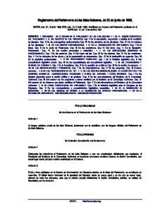 Reglamento del Parlamento de las Islas Baleares, de 23 de junio de 1986