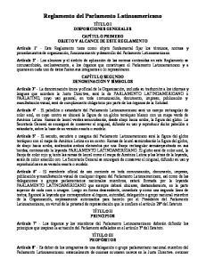 Reglamento del Parlamento Latinoamericano