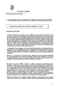 REGLAMENTO DEL SERVICIO DE ASISTENCIA A MUNICIPIOS