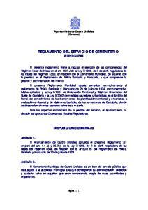 REGLAMENTO DEL SERVICIO DE CEMENTERIO MUNICIPAL