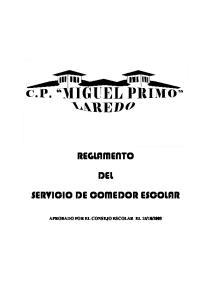 REGLAMENTO DEL SERVICIO DE COMEDOR ESCOLAR