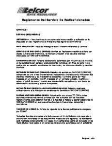 Reglamento Del Servicio De Radioaficionados