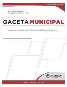 Reglamento del Servicio Profesional de Carrera Policial del Municipio de Zapopan, Jalisco