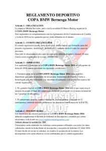 REGLAMENTO DEPORTIVO COPA BMW Bernesga Motor