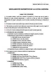 REGLAMENTO DEPORTIVO DE LA LUCHA LEONESA