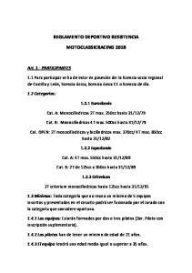 REGLAMENTO DEPORTIVO RESISTENCIA MOTOCLASSICRACING 2018