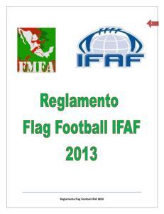 Reglamento Flag Football IFAF 2013