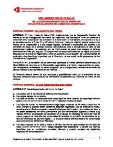 REGLAMENTO FONDO DE SALUD