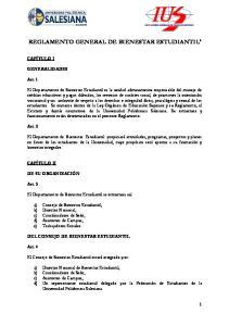 REGLAMENTO GENERAL DE BIENESTAR ESTUDIANTIL i