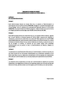 REGLAMENTO GENERAL DE FONDOS SCOTIA ADMINSITRADORA GENERAL DE FONDOS CHILE S.A