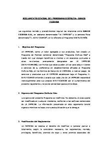 REGLAMENTO GENERAL DEL PROGRAMA DISFRUTA+ BANCO FICOHSA