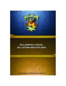 REGLAMENTO GENERAL DEL SISTEMA BIBLIOTECARIO