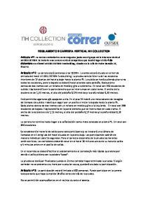 REGLAMENTO II CARRERA VERTICAL NH COLLECTION