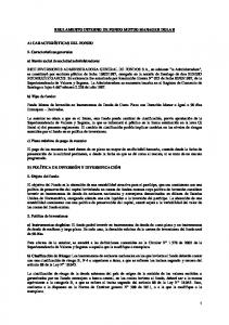 REGLAMENTO INTERNO DE FONDO MUTUO MANAGER DOLAR