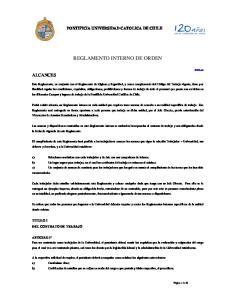 REGLAMENTO INTERNO DE ORDEN
