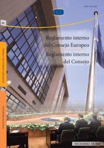 Reglamento interno del Consejo Europeo Reglamento interno del Consejo
