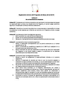 Reglamento Interno del Programa de Becas de la DGTIC