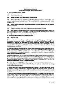 REGLAMENTO INTERNO FONDO MUTUO BOOSTER ACCIONES EUROPA