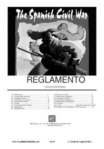 REGLAMENTO LISTA DE CONTENIDOS. GMT Games, LLC P.O. Box 1308, Hanford, CA