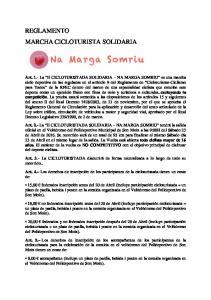 REGLAMENTO MARCHA CICLOTURISTA SOLIDARIA