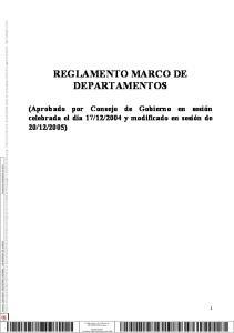 REGLAMENTO MARCO DE DEPARTAMENTOS