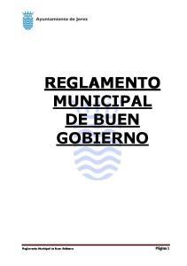 REGLAMENTO MUNICIPAL DE BUEN GOBIERNO